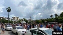 Imágen del levantamiento popular en Cuba, el 11 de julio de 2021 en La Habana. (REUTERS/Stringer).