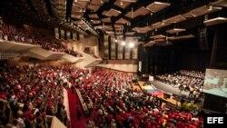 -Vista general del III congreso del Partido Socialista Unido de Venezuela hoy, sábado 26 de julio del 2014, en Caracas (Venezuela).
