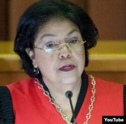 """Luisa Estella Morales,presidenta del TSJ que permitió a Maduro ser candidato y presidente """"encargado""""."""