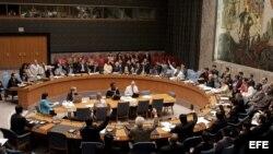 Fotografía de archivo de miembros del Consejo de Seguridad de la ONU.