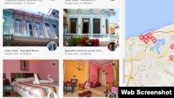 Algunas de las casas particulares para alquilar en La Habana que oferta la web de Airbnb