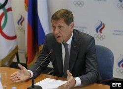 Alexander Zhukov, presidente del Comité Olímpico ruso.