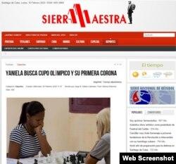 """Sección de Deportes del diario santiaguero """"Sierra Maestra"""" la mañana del lunes 10 de febrero."""
