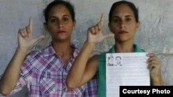 Hermanas Adairis y Anairis Miranda, sancionadas a 1 año de cárcel en Holguín,luego de la muerte de Fidel Castro. (Cortesía MCL).