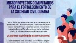 Convocan a proyectos comunitarios para fortalecer la sociedad civil cubana