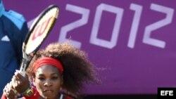 La tenista estadounidense Serena Williams gana oro en las Olimpiadas Londres 2012