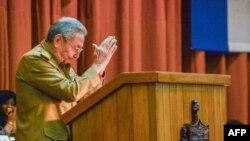 Raúl Castro en la Asamblea Nacional del Poder Popular.