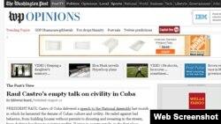 El Washington Post dice que el tipo de civilidad reconocido en todo el mundo no es el que está en mente de Raúl Castro..