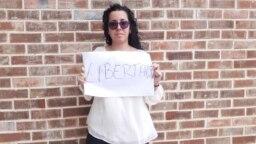 La periodista independiente Camila Acosta (Cubanet) pide libertad para Luis Manuel Otero Alcántara.