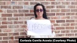 La periodista independiente cubana, Camila Acosta. (Archivo)