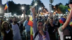 Romanian protest against the government