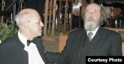 Alexander Solzhenitsin y Mstislav Rostropovich