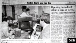 Así reflejó la prensa el lanzamiento de Radio Martí