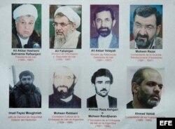 Imagen del póster difundido por el fiscal argentino Alberto Nisman, a cargo de una unidad especial para investigar el ataque terrorista a la sede de la mutualista judía AMIA de Buenos Aires, el 18 de julio de 1994, quien responsabilizó a Irán por el atent