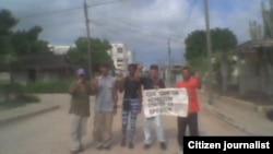Reporta Cuba protesta foto Yosmel Martínez