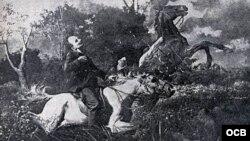 José Martí y la muerte en Dos Ríos.
