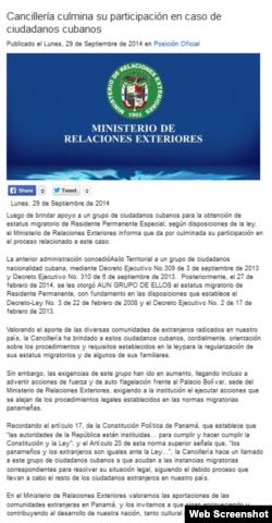 Cancillería culmina su participación en caso de ciudadanos cubanos.