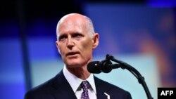 El senador republicano por Florida Rick Scott.