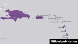 Una gráfica de la OPS sobre la expansión del chikungunya en el Caribe.