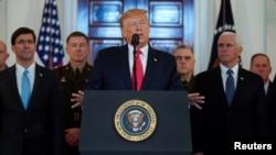 Discurso de Trump en la Casa Blanca. REUTERS/Kevin Lamarque