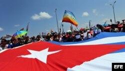 Conga por los derechos LGBTI, en la Octava Jornada contra la Homofobia y la Transfobia en Cuba.