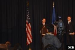 Conferencia de prensa de la Casa Blanca.
