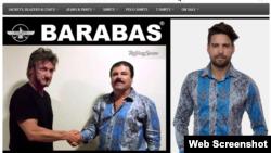 """Barabas anuncia su camisa con la imagen de """"El Chapo""""."""