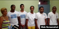 Huelguistas de hambre de UNPACU, en Santiago de Cuba.
