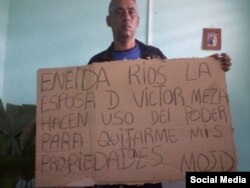 Ángel Isaac Monteagudo, cubano en huelga de hambre.