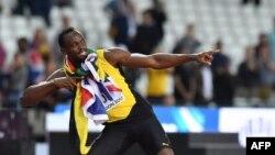 El velocista multicampeón olímpico jamaicano, Usain Bolt, en una competición de la IAAAF de 2017 en Londres.
