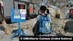 El asentamiento informal en Matamoros, en la frontera norte de México. © OIM/Alberto Cabezas