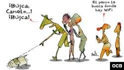 Garrincha's cartoon about WiFi