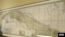 Mapa de Cuba. Archivo.
