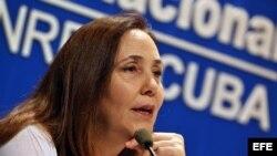 Mariela Castro Espín, ofrece una rueda de prensa el 4 de mayo de 2018.
