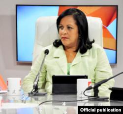 Mayra Arevich, presidenta de ETECSA.