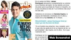 James Rodríguez aparece en la portada de la última entrega de la revista People en Español.