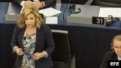 La eurodiputada española del PSOE Elena Valenciano