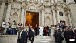 El Papa Francisco en La Catedral de La Habana.
