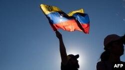Una bandera de Venezuela.