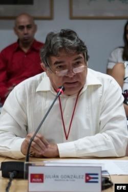 El ministro de Cultura de Cuba, Julián González Toledo.