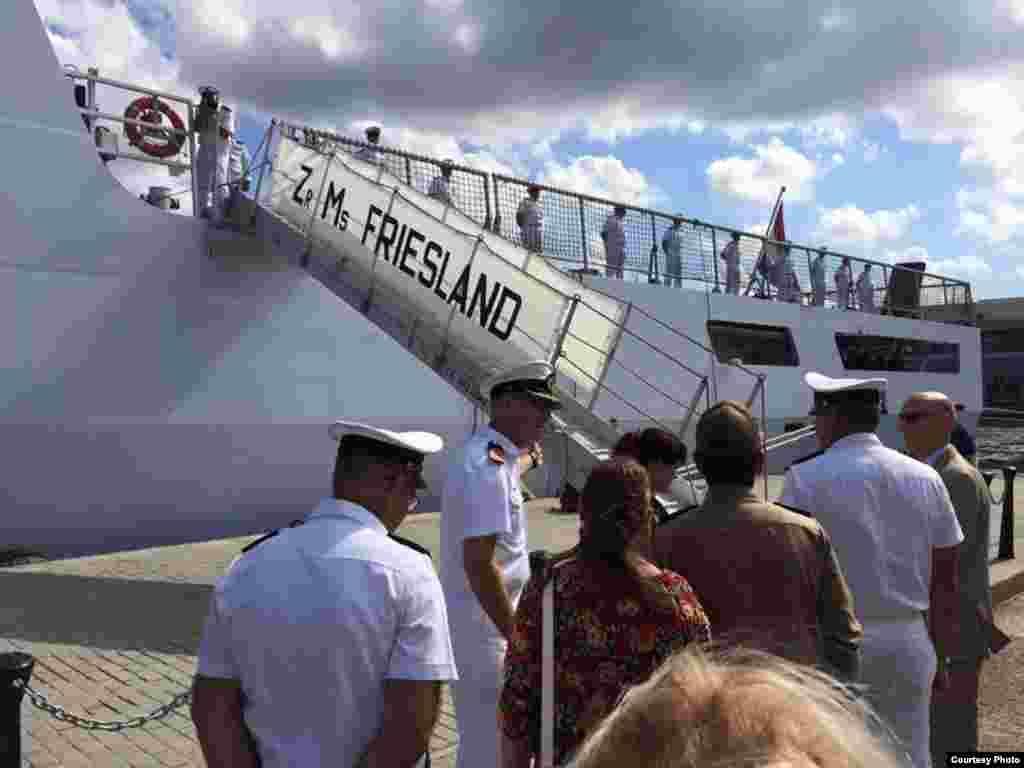 Llegada de la fragata holandesa Zr. Ms. Friesland a La Habana.