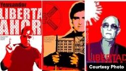 Cartel con información de algunos de los presos políticos cubanos. (Imagen tomada del Facebook de Estado de Sats)