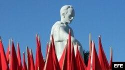 Homenaje al prócer cubano José Martí, que se realiza en la Plaza de la Revolución, en La Habana (Cuba).