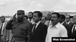Adolfo Suarez visita a Cuba 1978