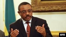 El primer ministro de Exteriores de Etiopía, Hailemariam Desalegn, en foto de archivo