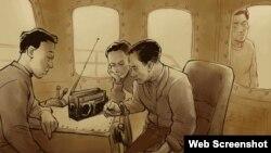 Marineros norcoreanos escuchan RFA en el mar de manera clandestina. (RFA / Rebel Pepper)