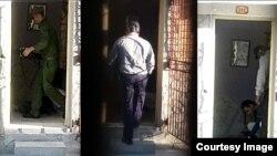 Imágenes de la policía política allanando y confiscando la sede de UNPACU en Santiago de Cuba. (Foto: OCDH)