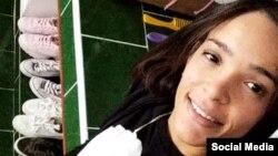 Mileydi Salcedo, de 24 años, en una foto de su perfil de Facebook.