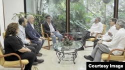 Encuentro con Raúl Castro de los comunistas españoles.