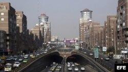 Vista general del centro de la ciudad de Teherán Irán. Foto de archivo